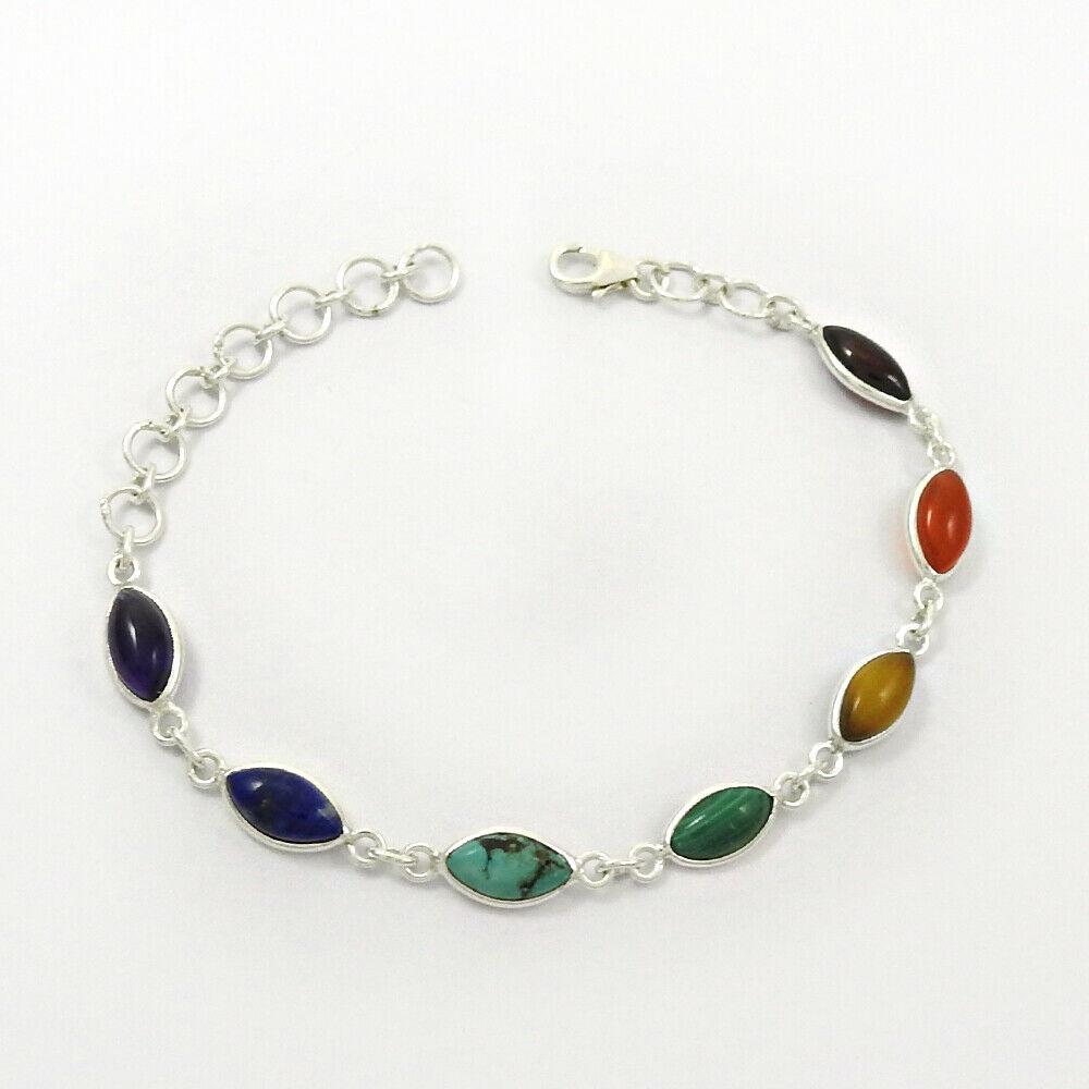 Chakra silver bracelet