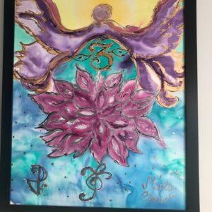 Lotus Angel Painting - healing shop