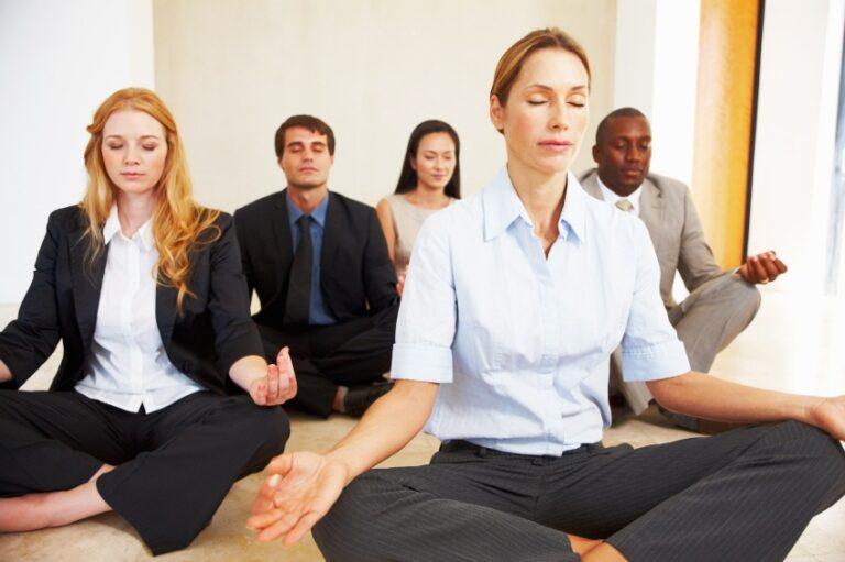 Office meditation class